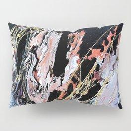 Gold Thread - Mixed Media Pebeo Paint Ceramic Abstract Modern Art, 2015 Pillow Sham
