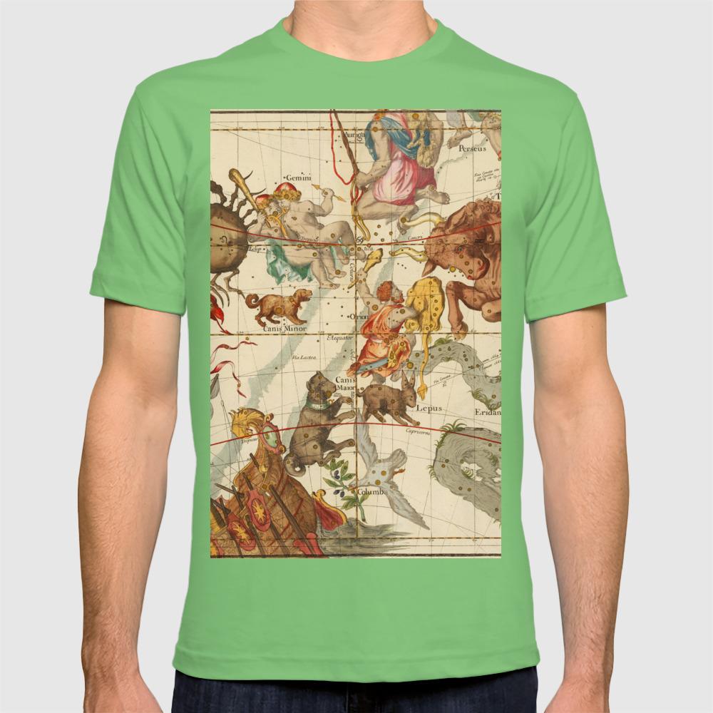 Star Atlas Vintage Constellation Map Ignace Gaston Pardies Plate 5 T-shirt