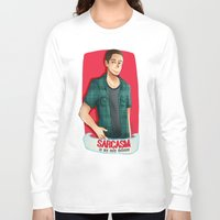 sarcasm Long Sleeve T-shirts featuring Sarcasm by IanPinkis