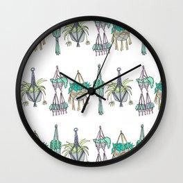 Macrame - Pastel Palette Wall Clock