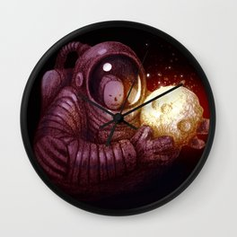 Holding The Moon Wall Clock