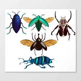 Insect Sticker sheet 1 Canvas Print