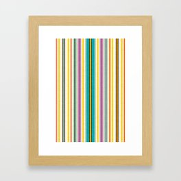 retro stripe Framed Art Print