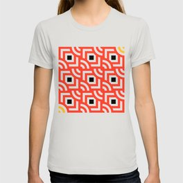 Round Pegs Square Pegs Red-Orange T-shirt