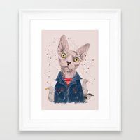 gangster Framed Art Prints featuring The Gangster by dogooder