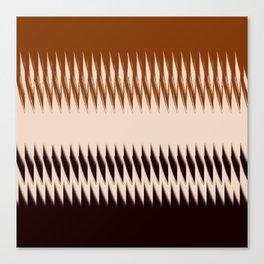 Black and Tan Edge Canvas Print