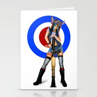 tank girl Stationery Cards featuring Tank Girl by Valérie Loetscher (Vay)