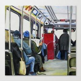 501 Streetcar Eastbound Canvas Print