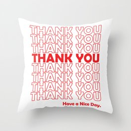 Thank you Grocery Bag Throw Pillow