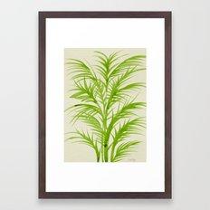 Lime Palms Framed Art Print
