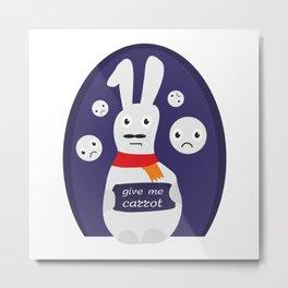 Rabbit give me carrot  #society6 #printart #decor #buyart Metal Print