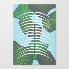 Leaf Bones Canvas Print