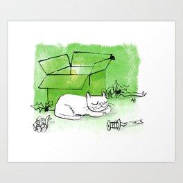 Boxing Day Cat Art Print