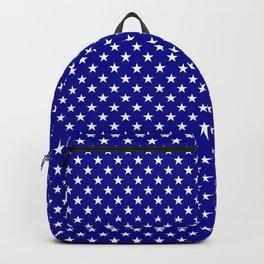 Large White Stars on Australian Flag Blue Backpack
