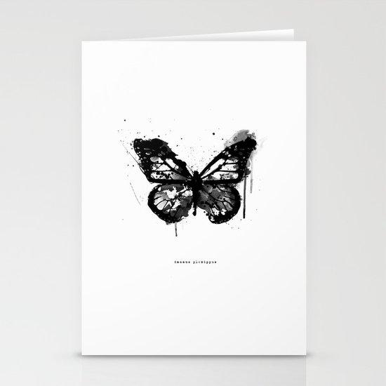 Black Monarch Stationery Cards