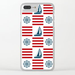 Nautical pattern Clear iPhone Case