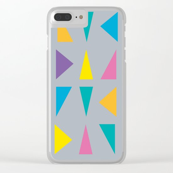 Colorful Corners Clear iPhone Case