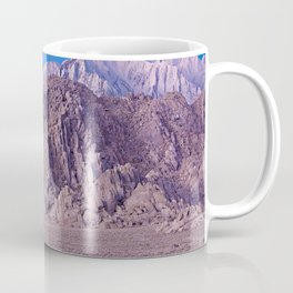 Photographer setting up a shot at Lone Pine, CA. (movie Flats) Coffee Mug