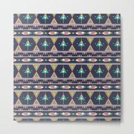 Ethnic geometric colorful aztec seamless pattern Metal Print
