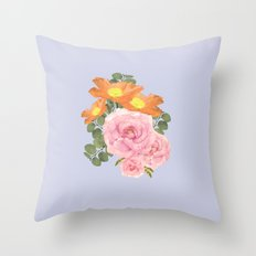 Summer Floral Throw Pillow