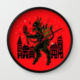 Krampus Wall Clock