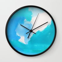 bali Wall Clocks featuring Bali by kristinesarleyart