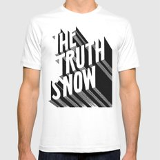 The Truth Is Now MEDIUM Mens Fitted Tee White