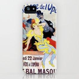 1897 Masquerade ball Paris Opera iPhone Case