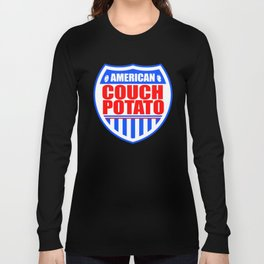 American Couch Potato Long Sleeve T-shirt