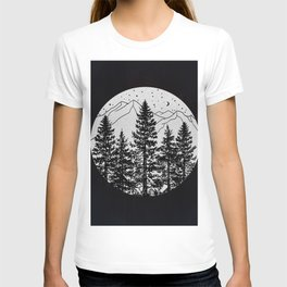 Night Time in the Forest T-shirt