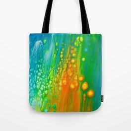 Aqua orange Tote Bag