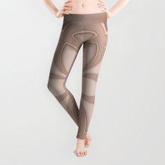 Beige Mandala Leggings
