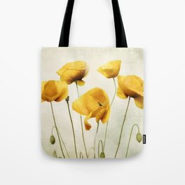 Yellow Poppies Tote Bag
