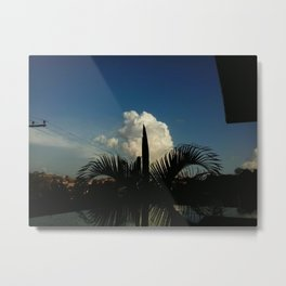 Palm Tree and Cloud Metal Print