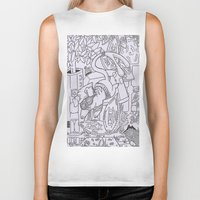 gizmo Biker Tanks featuring Gizmo mouse by Nixynakks