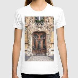 Art Nouveau 7th Arrondissement Paris France Ornate Doorway T-shirt