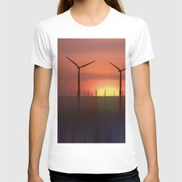 Wind Farms (Digital Art) T-shirt
