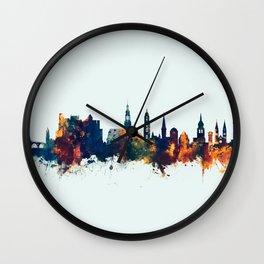 Heidelberg Germany Skyline Wall Clock
