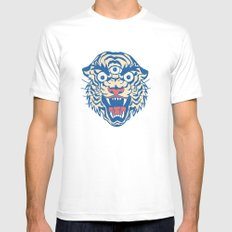Third Eye Tiger Flash MEDIUM White Mens Fitted Tee