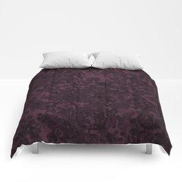 Eggplant Purple Hybrid Camo Pattern Comforters
