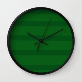 Emerald Green Organic Stripes Wall Clock