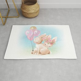 Lovey Dovey Easter Bunnies Rug