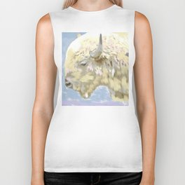 White buffalo calf Biker Tank