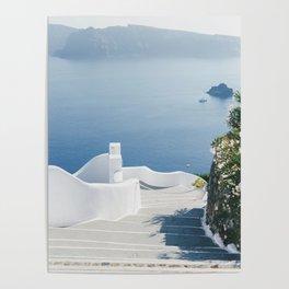 Santorini Stairs I (Vertical) Poster