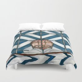 Art Beneath Our Feet - Cabarita Beach, Australia Duvet Cover