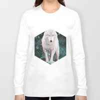 hologram Long Sleeve T-shirts featuring hologram wolf by Avalon Corvus