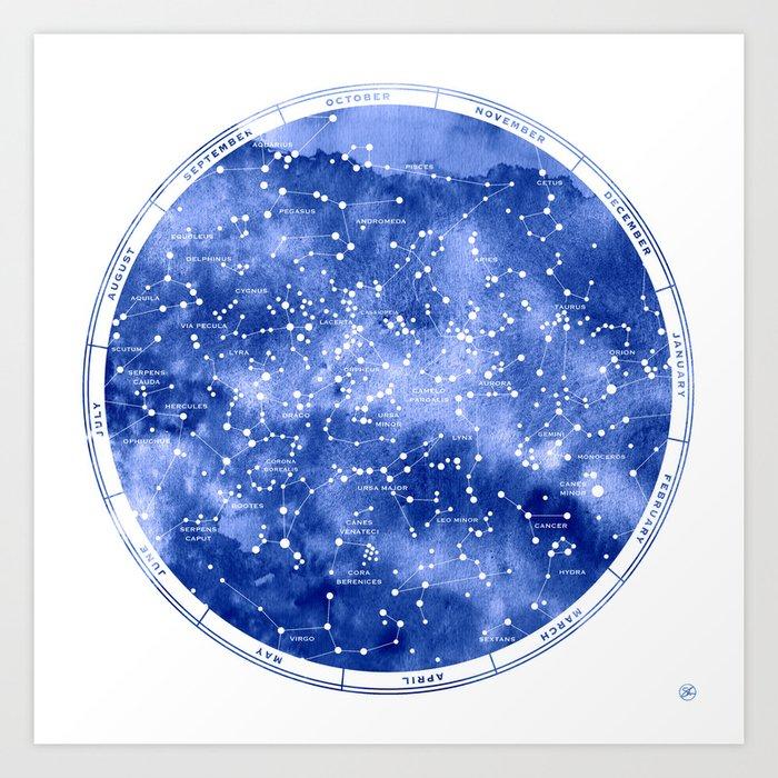 Northern Stars Art Print