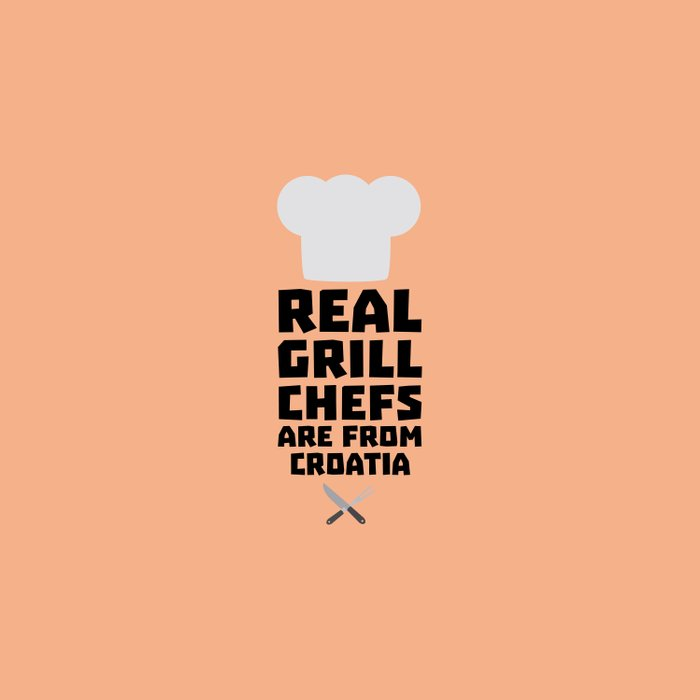 Real Grill Chefs are from Croatia T-Shirt Dt141 Duvet Cover