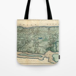 Egbert Viele 1865 Topographic Map of New York City Tote Bag
