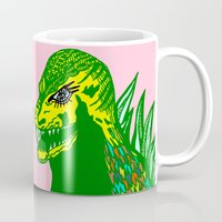 dino Mugs featuring Dino by intermittentdreamscapes